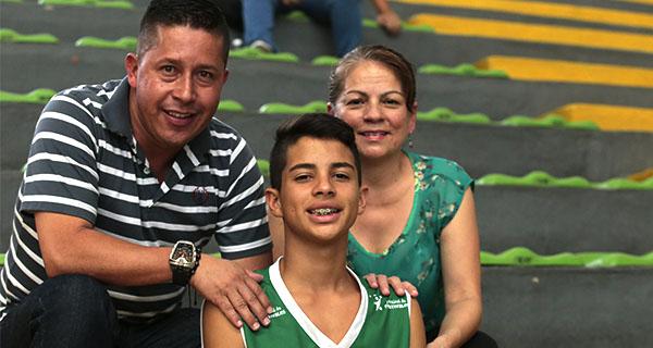 Su familia, su gran motivación