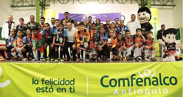 Con talento y buen juego concluye el Festival de Fútbol de Salón Comfenalco Antioquia 2018