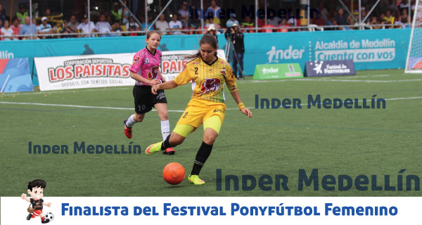 Finalista Ponyfútbol femenino Inder Medellín