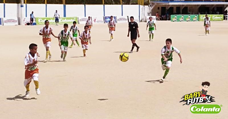 Definidos los cuartos de final del Zonal Babyfútbol Colanta del Oriente de Colombia