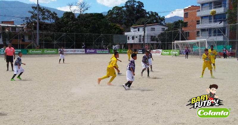 Fecha doce del Babyfútbol Colanta se jugará en dos escenarios
