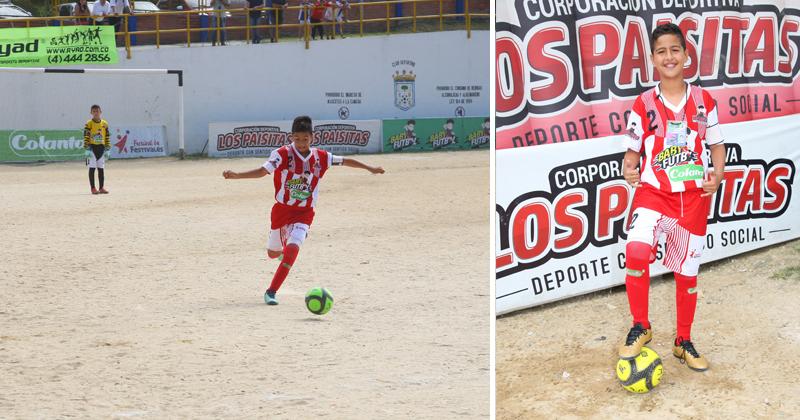 El hijo del ´Gran Martín Elías´ participa en el Babyfútbol Colanta