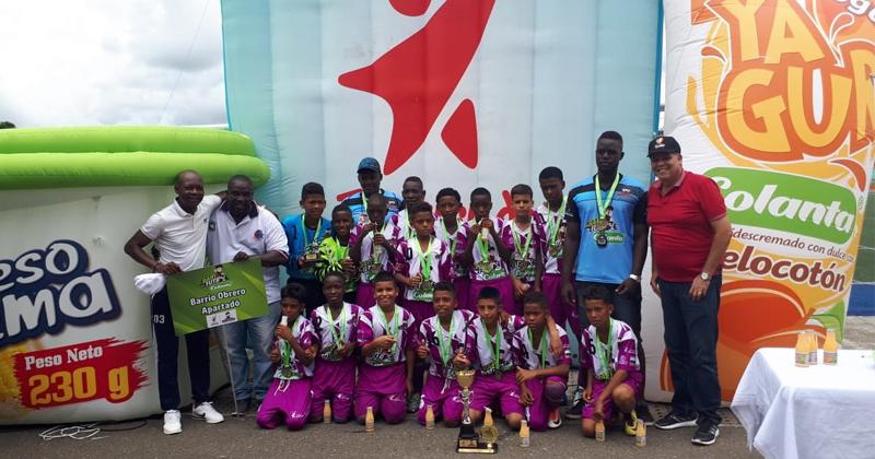Barrio Obrero de Apartadó, ganador del Zonal Babyfútbol Colanta del Urabá Antioqueño