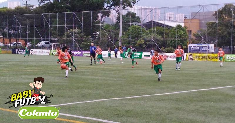 Últimas jornadas de infarto en el Babyfútbol Colanta en Medellín y Valle de Aburrá