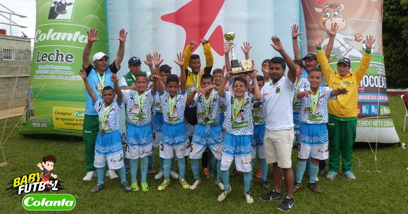 Municipio de Támesis, el clasificado por el Suroeste de Antioquia a la Final del Babyfútbol Colanta