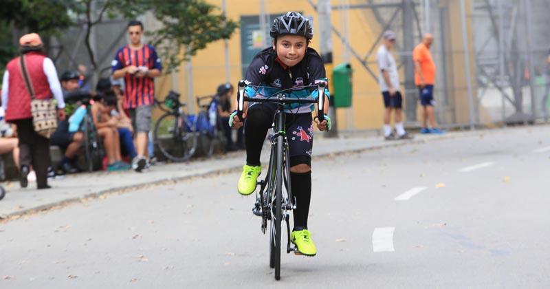 Estrenando cicla en el Festival