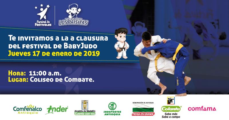Última jornada para el Baby Judo en el Festival de Festivales