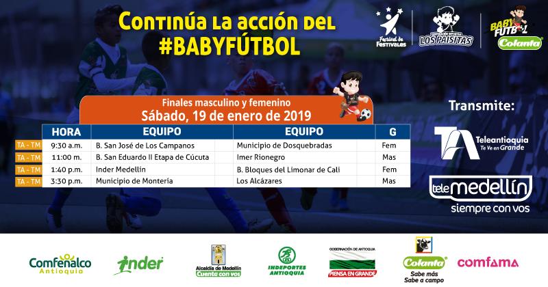 Teleantioquia y Telemedellín conectados con la gran final del Baby Fútbol Colanta